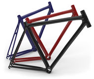 Carbon fiber bike frames Royalty Free Stock Photography
