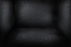 Carbon fiber black background texture Royalty Free Stock Image