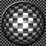 Carbon Fiber Button Royalty Free Stock Photography