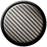 Carbon fiber button Royalty Free Stock Photo