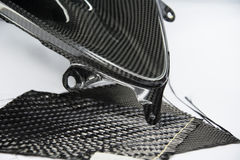 Carbon fiber composite material background Royalty Free Stock Images