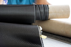 Carbon fiber composite raw material background Royalty Free Stock Images