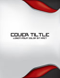 Carbon Fiber Cover with Gray, Red and Black. Cover design for a book, brochure, etc Royalty Free Stock Image