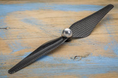 Carbon fiber drone propeller Royalty Free Stock Image