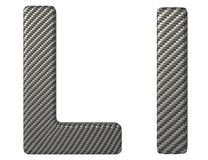 Carbon fiber font L lowercase and capital letters Royalty Free Stock Image