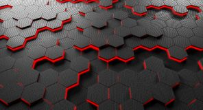 Carbon fiber hexagon background Royalty Free Stock Photography