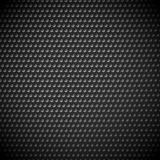 Carbon fiber industrial background with repeatable geometry. Dar. K, black dotted pattern. Punched, perforated surface. Abstract texture. - Royalty free vector Royalty Free Stock Images