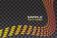 Carbon Fiber Layout. A layout with curved dots over a carbon fiber background texture Stock Photos