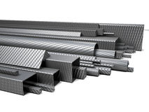 Carbon fiber pipes. 3d image of carbon fiber pipes on white Stock Photography