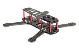 Carbon fiber quadrocopter frame Royalty Free Stock Image