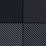 Carbon fiber seamless patterns set Stock Photography