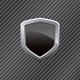 Carbon Fiber Shield Background Royalty Free Stock Image