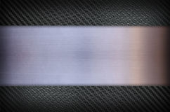 Carbon fiber and Stainless steel metal texture background Royalty Free Stock Photos