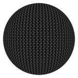 Carbon Fiber Textured Button Stock Image