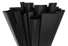 Carbon fiber tubes Stock Photography