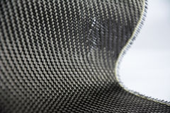 Carbon fiber twill background. Black carbon fiber composite raw material background Stock Photography