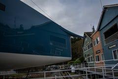 Carbon fiber yacht bow Stock Photo