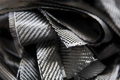 Carbon fibers backdrop. Closeup detail of the carbon fibers backdrop royalty free stock photography