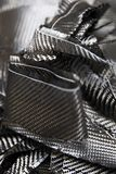 Carbon fibers backdrop. Closeup detail of the carbon fibers backdrop royalty free stock image