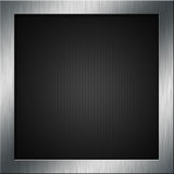 Carbon fibre and metal. Carbon fibre background with a brushed metal frame Stock Photography
