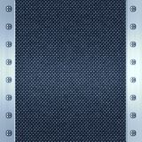Carbon fibre and steel background. Image of carbon fibre inlaid in brushed metal frame Stock Photography