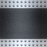 Carbon fibre and steel background. Image of carbon fibre inlaid in brushed metal frame Stock Photo
