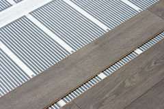 Carbon film floor heating Royalty Free Stock Photo
