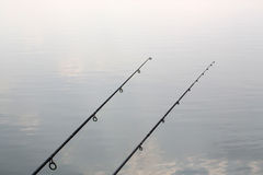 Carbon fishing rods Royalty Free Stock Image