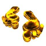 Carbon foot print Stock Image