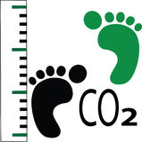 Carbon foot print measure Stock Photos