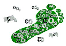 Carbon footprint Royalty Free Stock Image