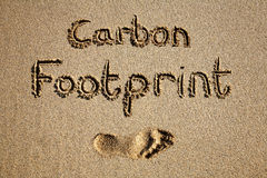 Carbon footprint. Royalty Free Stock Images