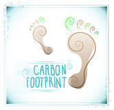 Carbon footprint with floral motifs Royalty Free Stock Photo