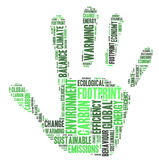 Carbon footprint. Hand word cloud Stock Photography