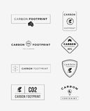 Carbon footprint logo set Stock Images