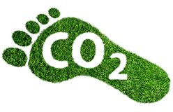 Free Carbon Footprint Symbol, Barefoot Footprint Made Of Lush Green Grass With Text CO2 Stock Images - 171437484