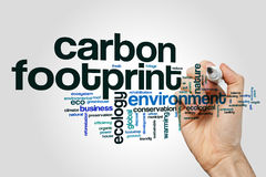 Free Carbon Footprint Word Cloud Concept On Grey Background Royalty Free Stock Images - 90729789