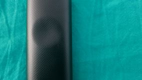 Carbon green blue. Carbon reliëf cotton sheet Royalty Free Stock Images