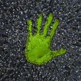 Carbon handprint Stock Images