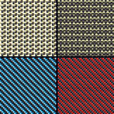 Carbon, kevlar and decorative patterns Royalty Free Stock Photos