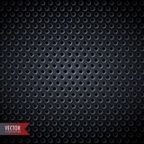 Carbon metal background with holes. Vector illustration Stock Photography