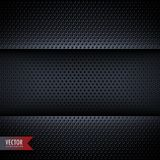 Carbon metal background with small holes Stock Image