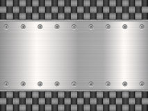 Carbon and metal plate Royalty Free Stock Image