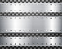 Carbon and metal plates Royalty Free Stock Images