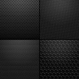 Carbon and Metallic texture - background illustration Stock Photos