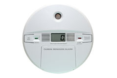 Carbon Monoxide Alarm. Isolated on white background with clipping path Stock Photography