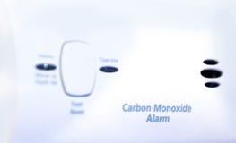 Carbon Monoxide alarm. Close up shot of a carbon monoxide alarm stock photo