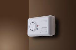 Carbon Monoxide Alarm. Mounted to interior wall stock photos