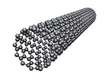 Carbon nanotube vector illustration