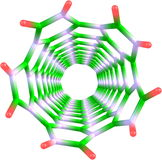 Carbon nanotube structure Stock Image